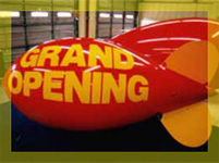 11 feet long promotional blimp